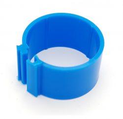Dvärghönsring Band 12mm Blå