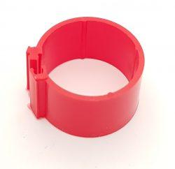 Dvärghönsring Band 12mm Röd