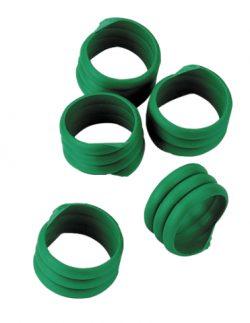 Hönsring Spiral 16mm Grön