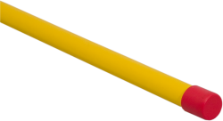 Rågångsstolpe 1500mm Gul/Röd Knopp - 89515152 - Markeringskäppar