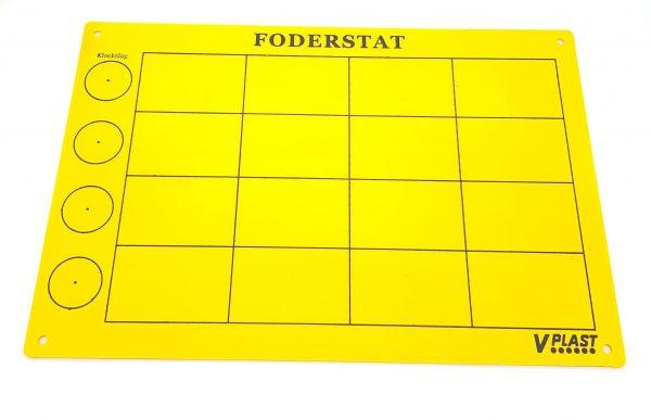 Skylt Foderstat Gul - 89510457 - Häst
