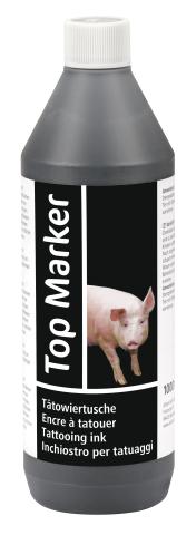 Tattoo Top Marker 1000ml Svart - 89511520 - Märkning